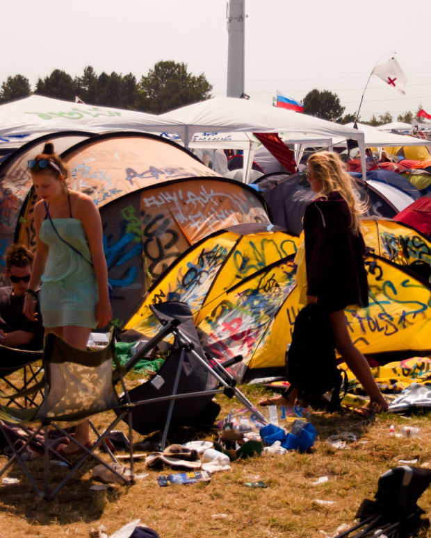 Festival Tent Trash