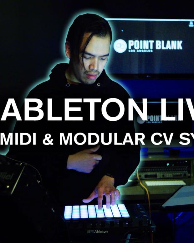 Ableton live midi & modular cv sync point blank