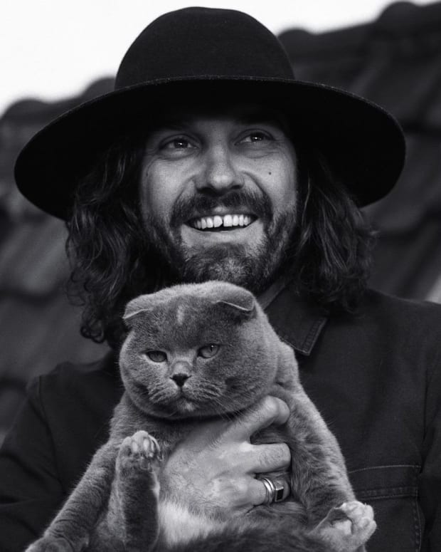 Breach & His Cat Mimi