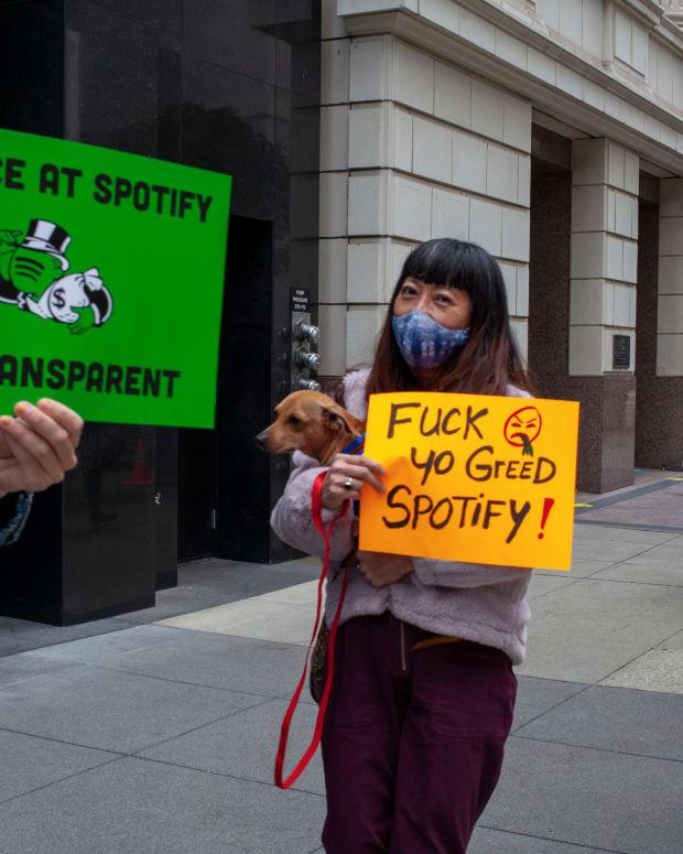 Spotify Protest In San Francisco