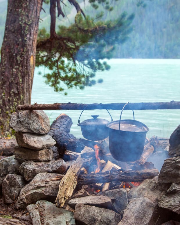 Campfire Cooking Fire Forest