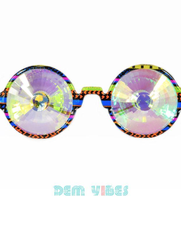 Dem Vibes Rainbow glasses