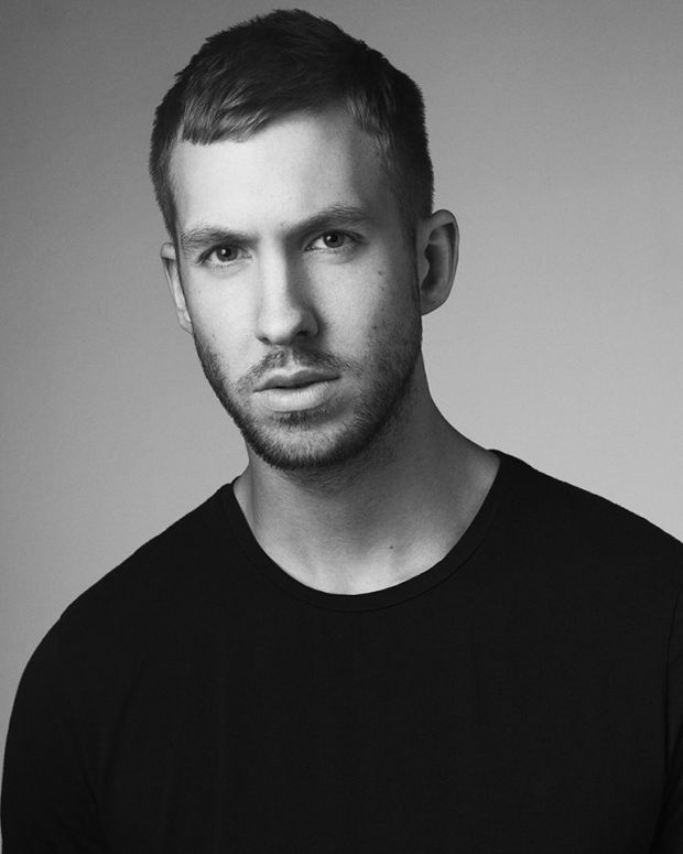 Calvin Harris black and white
