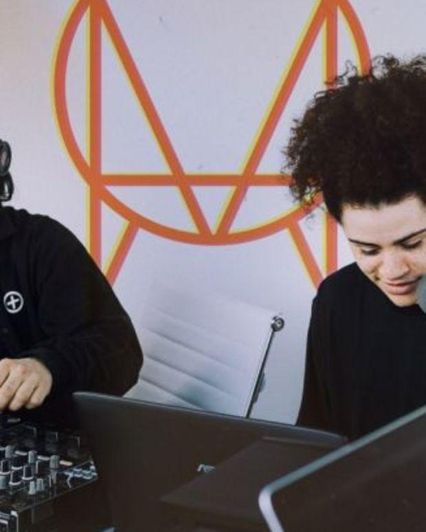 Skrillex and Oshi (photo via OWSLA)