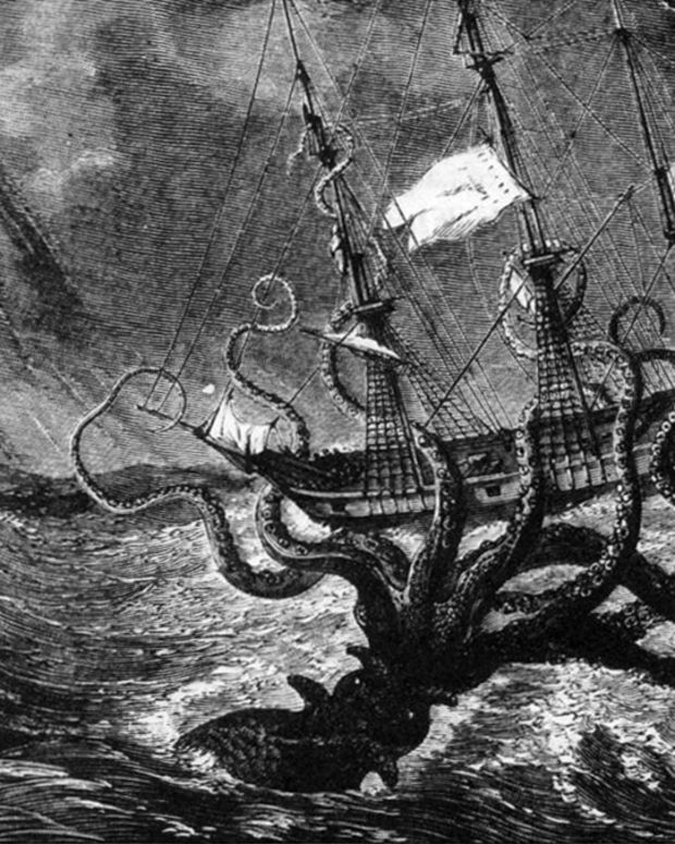 Giant Octopus Attacking Ship (Wikimedia Commons)