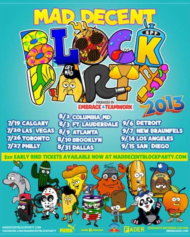 Mad Decent Block Party 2013 Throwing Down In 13 Cities