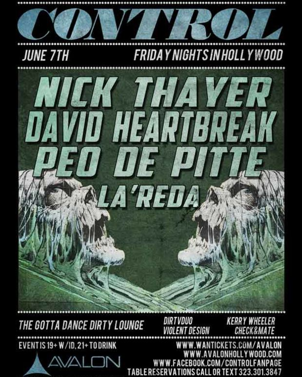 EDM Event - Control Tonight In LA With Nick Thayer, David Heartbreak, Peo De Pitte and LA'Reda