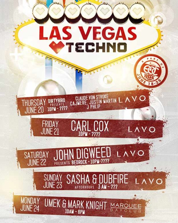 EDM News - Las Vegas Loves Techno At Lavo and Marquee During EDC Week