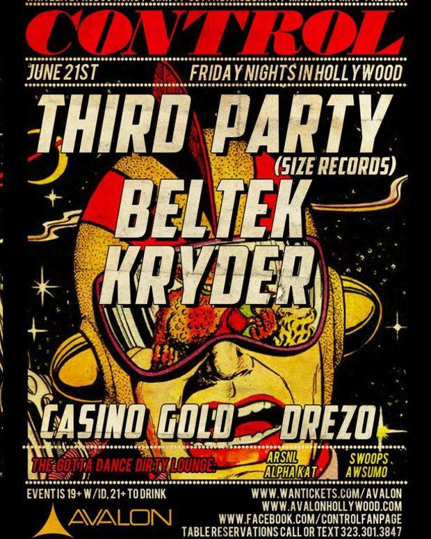 EDM Event: Control At Avalon With Beltek, Casino Gold, Third Party, Kryder, Drezo