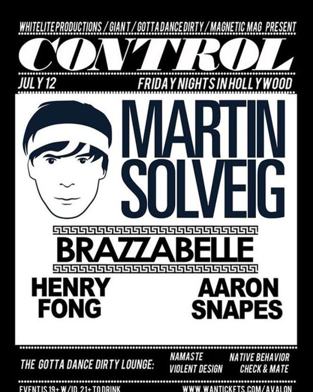 EDM Event: Martin Solveig At Conatrol LA Tonight; Supported By Brazzabelle, Henry Fong And Aaron Snapes