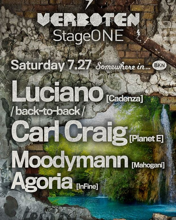 EDM Event: Veboten StageOne Series Brings In EDM Culture's Big Names- Carl Craig, Luciano, Moodymann and Agoria