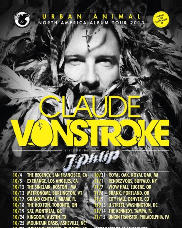 """EDM News: New Electronic Music From Claude VonStroke; Announcement Of """"Urban Animal"""" Tour"""