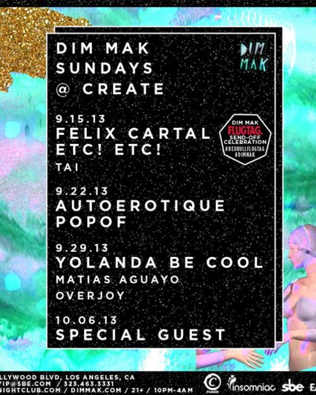 EDM Culture: Dim Mak Teams With Insomniac And SBE To Launch New Weekly Event- Dim Mak Sundays @ Create