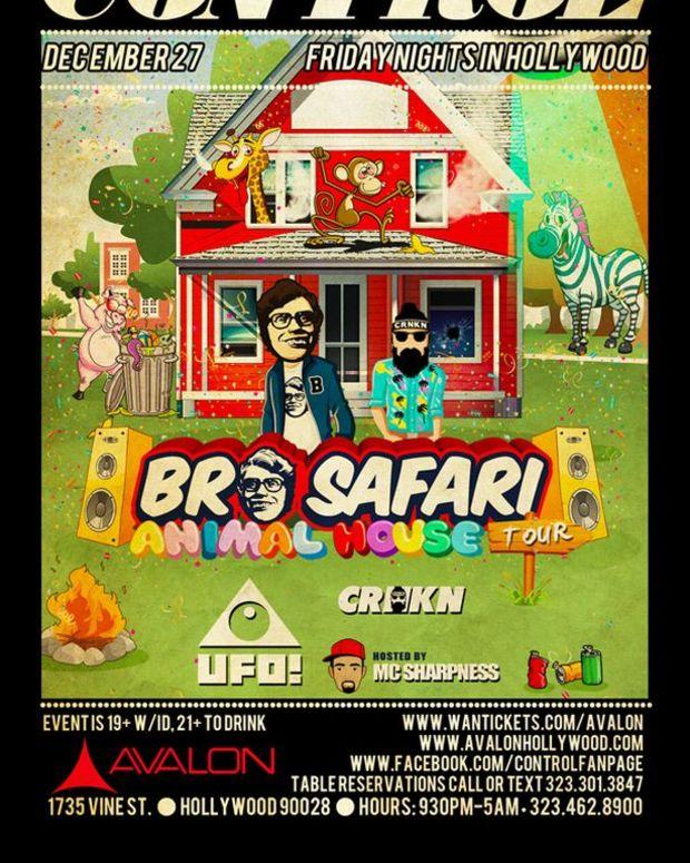 Bro Safari, CRNKN & UFO! At Control Tonight Inside The Avalon - EDM Culture