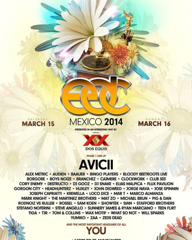 Avicii, Krewella, Steve Angello And More Announced For EDC Mexico - EDM News