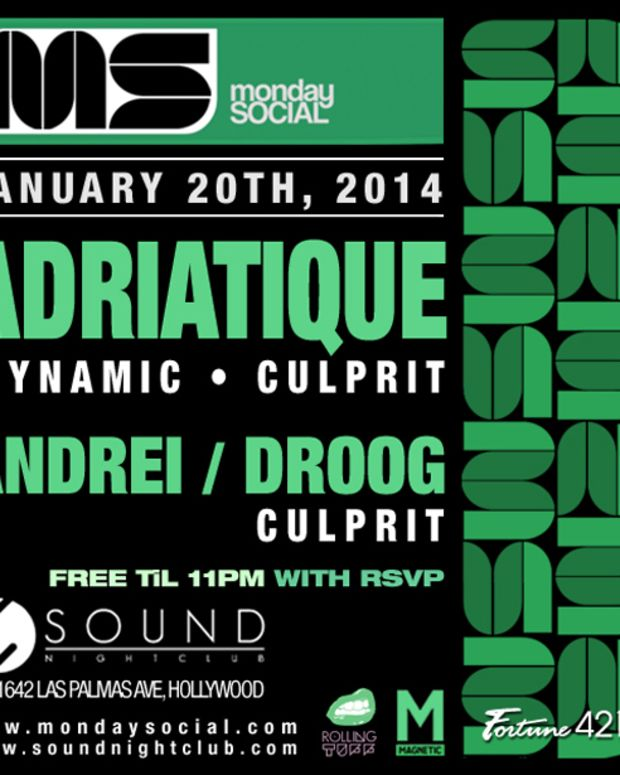 House Music Duo Adriatique At Monday Social Tonight At Sound Nightclub In Hollywood