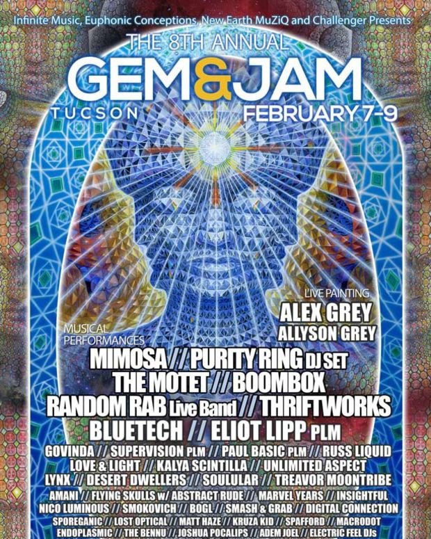 8th Annual Gem and Jam Festival in Tucson Feb 7-9th