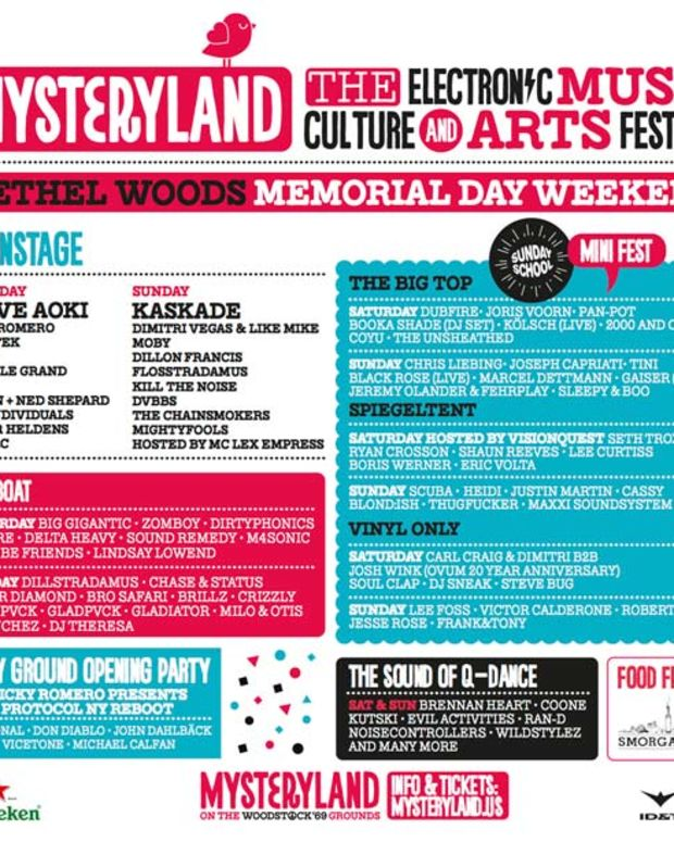 EDM Festival Mysteryland Announces Stacked 2014 Lineup For US Debut