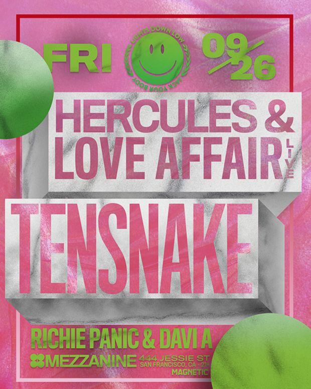 Hercules & Love Affair X Tensnake 9/26/14 @ Mezzanine SF - Win Tickets!