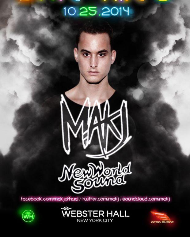 NYC Event Spotlight: MAKJ At Webster Hall For brite nites 10-25-14