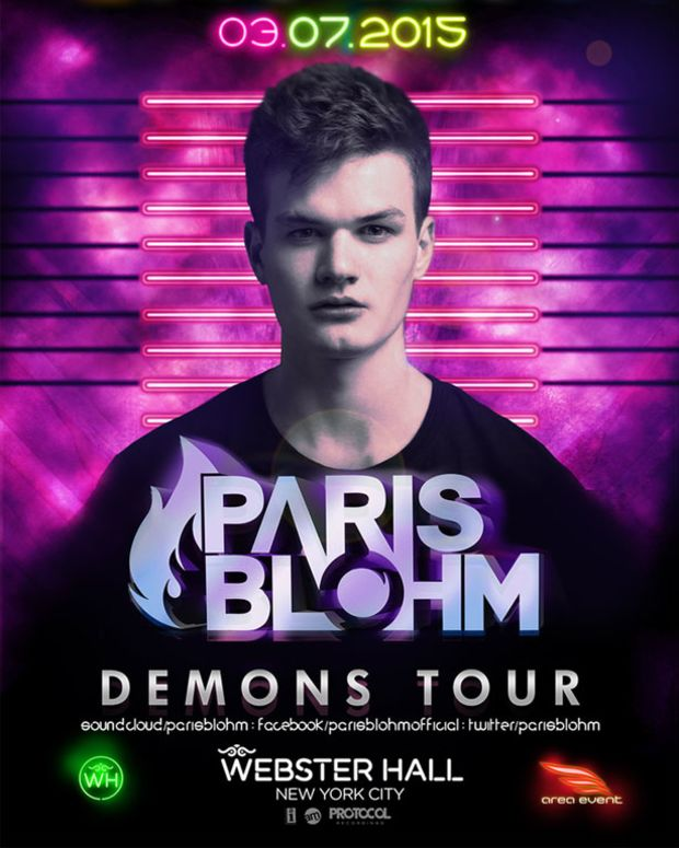 Event Spotlight Post: Webster Hall's Brite Nites With Paris Blohm (Demons Tour)