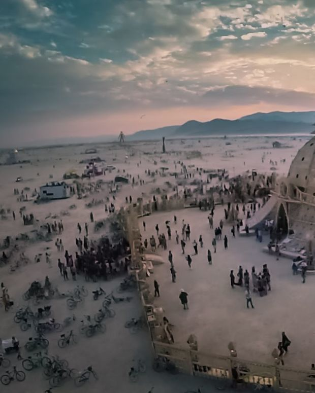 Watch: Burning Man Filmed From A Drone's View
