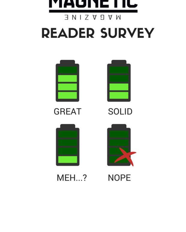 Magnetic Magazine Reader Survey - Five Quick Questions