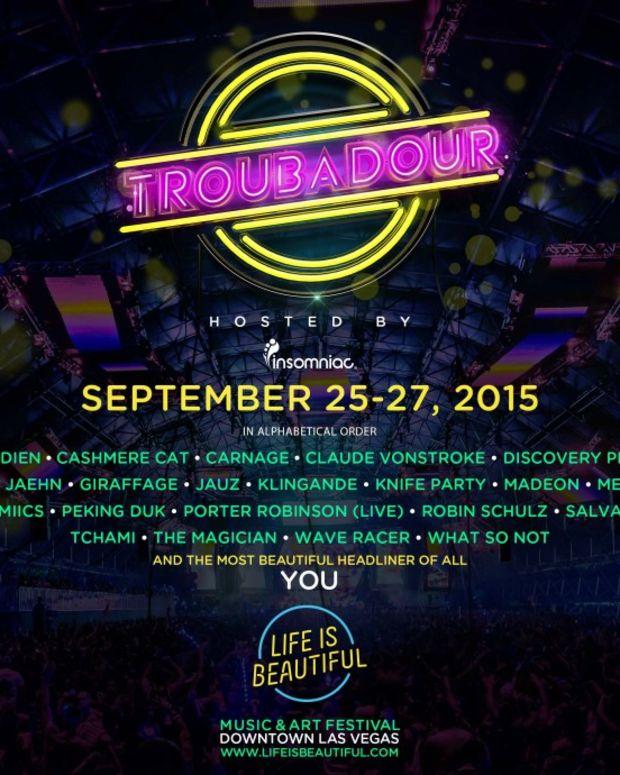 LIB Insomniac Troubadour Stage Lineup