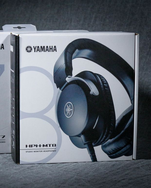 Yamaha's MT-series headphones; HPH-MT5, HPH-MT7, and HPH-MT8
