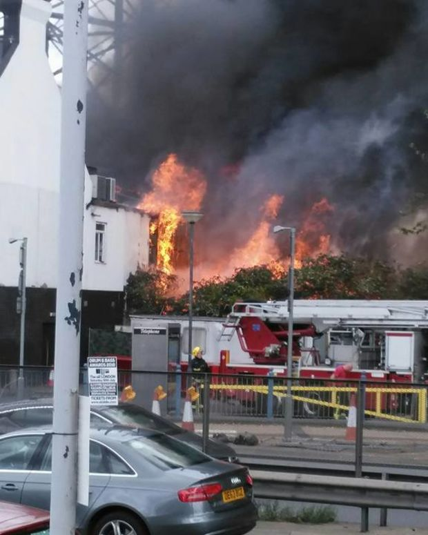 London nightclub Studio 338 catches fire