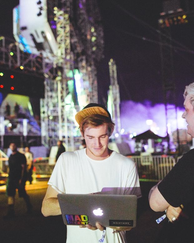 NGHTMRE and Flux Pavilion on Laptop