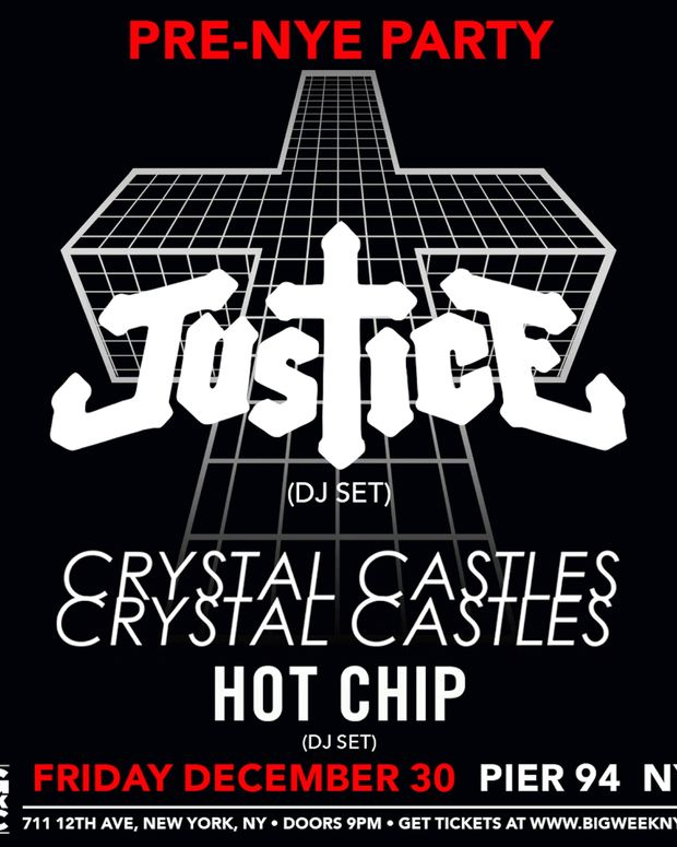 Pier 94 Pre NYE 2016 Party with Justice, Crystal Castles and Hot Chip