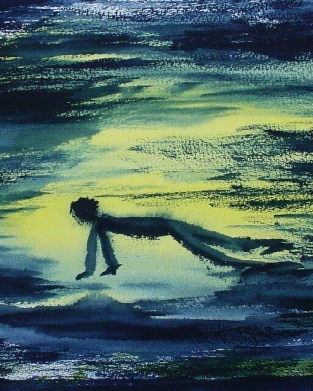 Painting: Niedergedrückt  by Melancho Blumenbunt