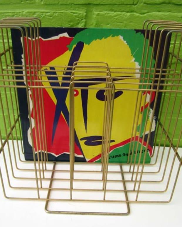 Vintage 1970s LP Record Album Rack