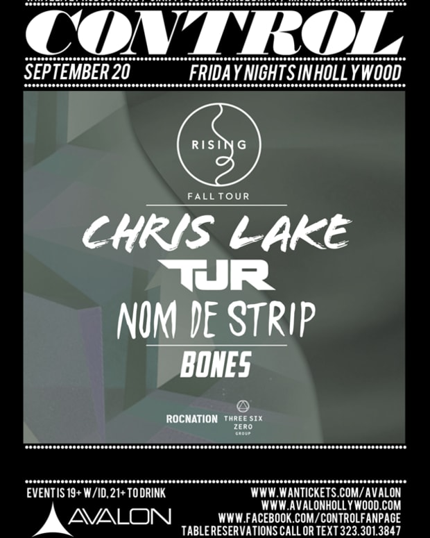 EDM Event: Tonight- Control LA Presents The Rising Tour With Chris Lake, TJR And Nom De Strip