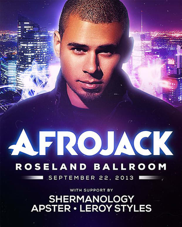 EDM Event: Afrojack In NYC MOVED To Roseland Ballroom 9/22