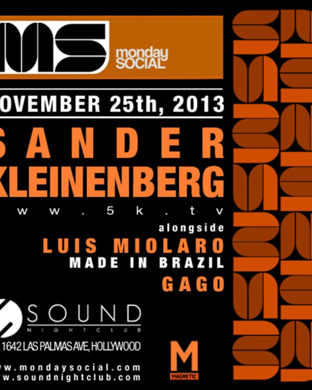 Monday Social At Sound HollywoodTonight With Sander Kleineberg - EDM News
