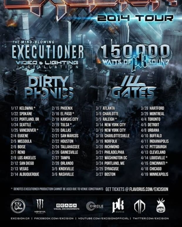 """Excision Announces 2014 Tour And New Track """"Get Stupid"""" With Space Laces - EDM News"""