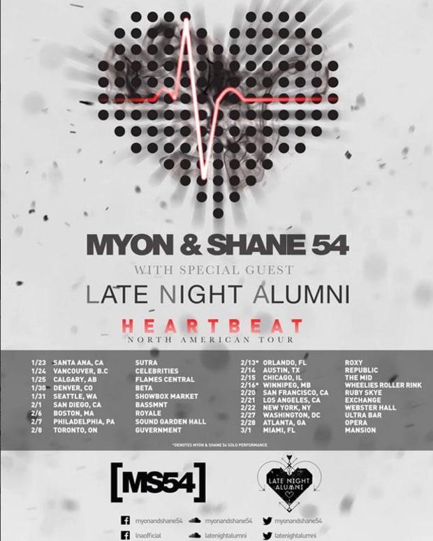 "Myon & Shane 54 ""Heartbeat"" North American Tour With Late Night Alumni - EDM News"