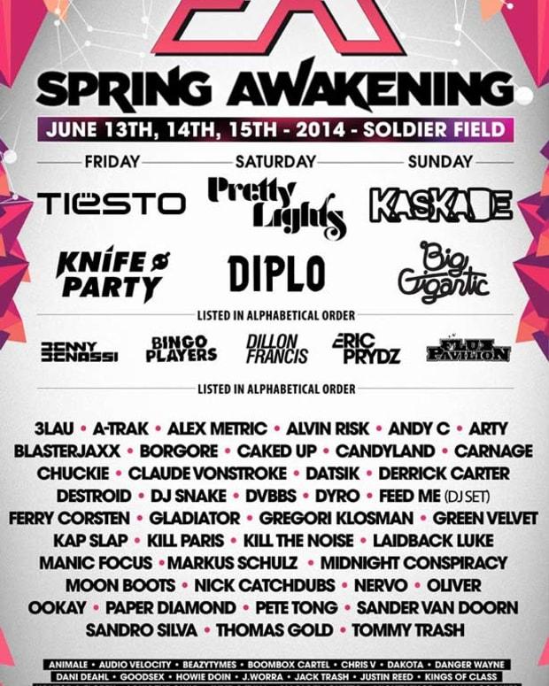 Spring Awakening Music Festival In Chicago Announces Massive Three Day Line Up - EDM Culture