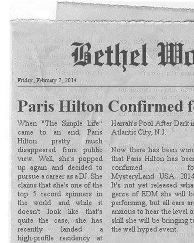 Paris Hilton Playing Mysteryland 2014 Article Is A Fake