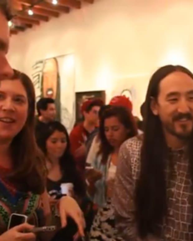 Watch Steve Aoki Talk Fan Art And The Aoki Jump