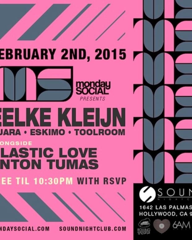 Monday Social presents Eelke Kleijn Tonight at Sound!