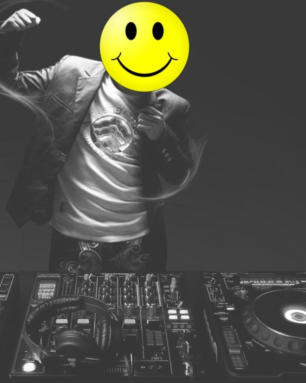 DJ smiley face