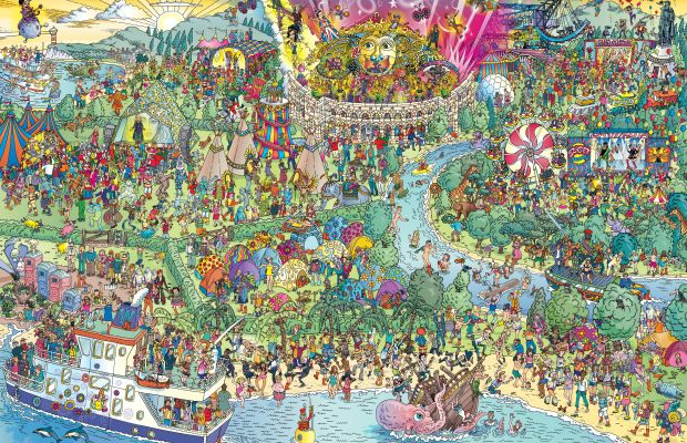 """Find Daft Punk in This """"Where's Waldo"""" Style Festival Map"""