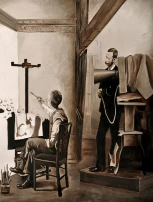 "ALIGUORI - ""The Destruction of Painting"" copy"