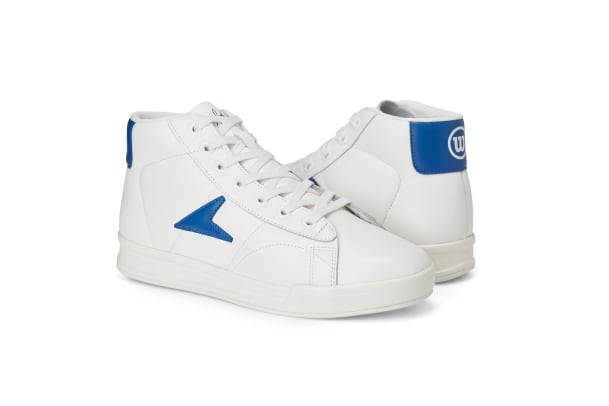 Basketball leather white blue_315