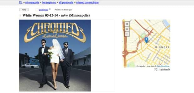 Chromeo Caught Posting A 'Missed Connections' Personal Ad On