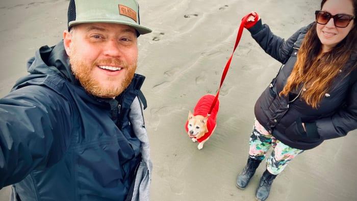 Luke & Vivian Hunter with Sandy the dog