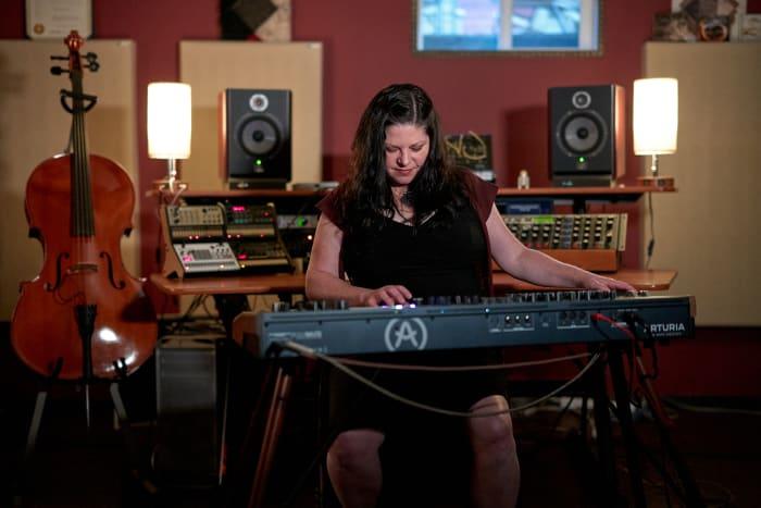 Rena Jones in the studio